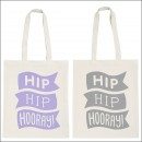 alphabet bags hip hip hooray - grey  image 2