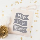 alphabet bags hip hip hooray - grey  image 1