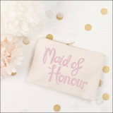 maid of honour pouch - rose  by Alphabet Wedding Bags