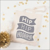 hip hip hooray - grey  by Alphabet Wedding Bags