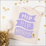 hip hip hooray - purple  by Alphabet Wedding Bags