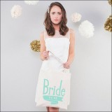 bride to be - mint by Alphabet Wedding Bags